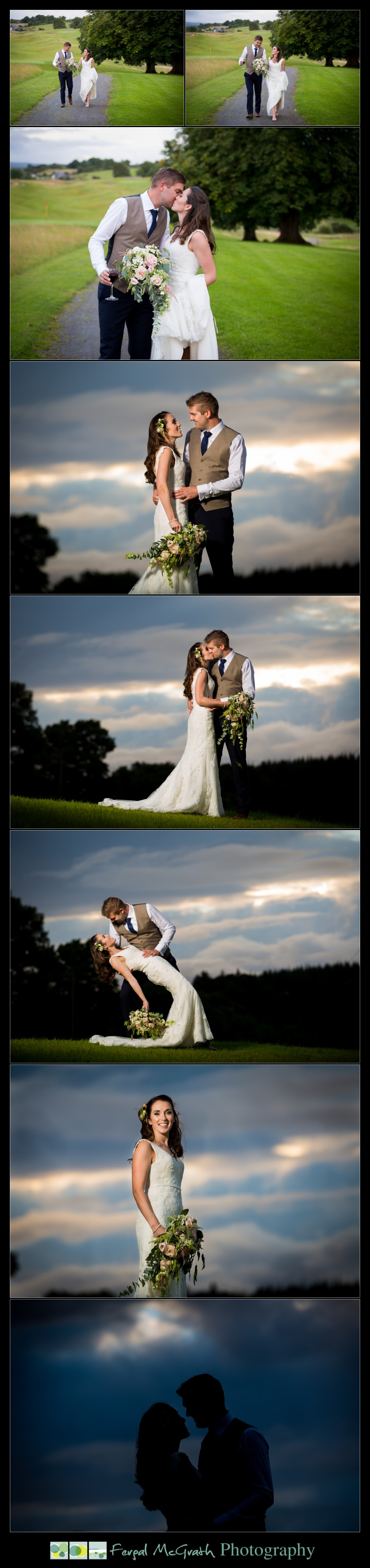 Castle Dargan Hotel Summer Wedding beautiful sunset wedding photos