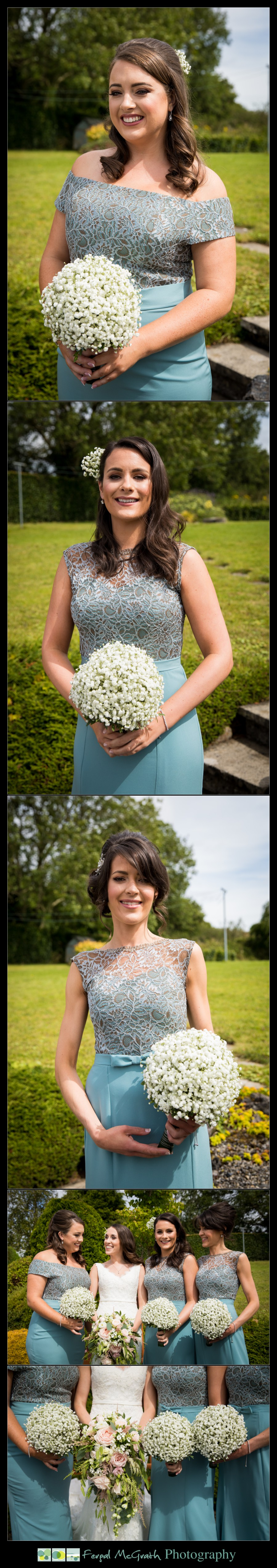Castle Dargan Hotel Summer Wedding beautiful bridesmaids dresses and bouquets
