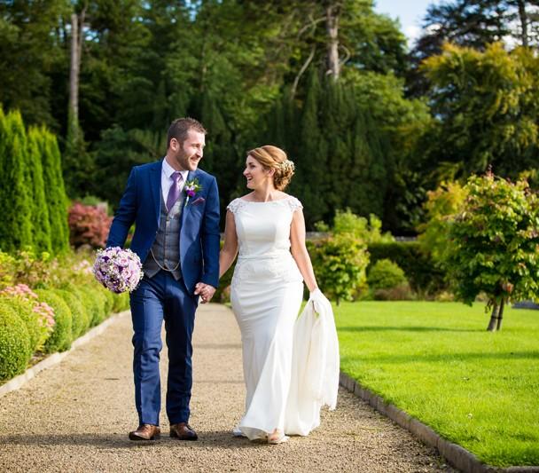 Lough Rynn Castle wedding garden