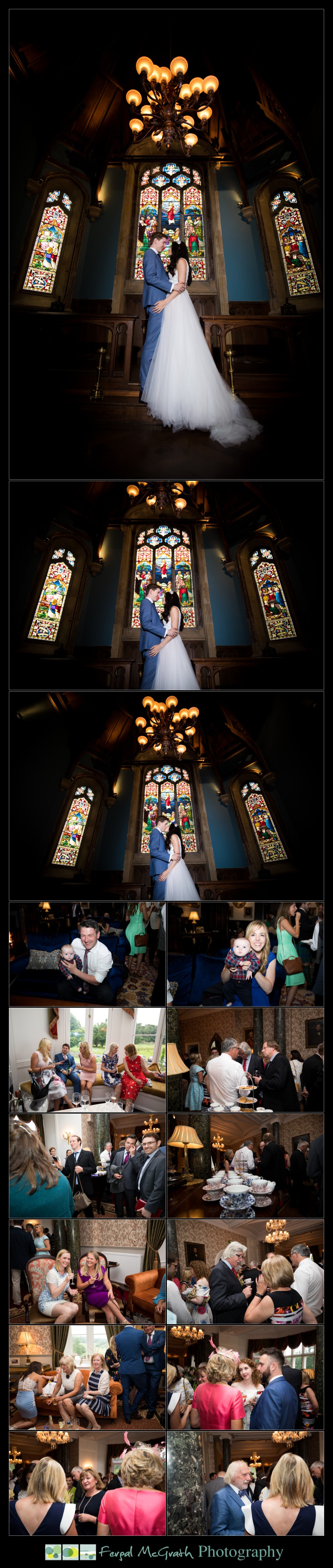 Markree Castle Wedding photos on the amazing staircase