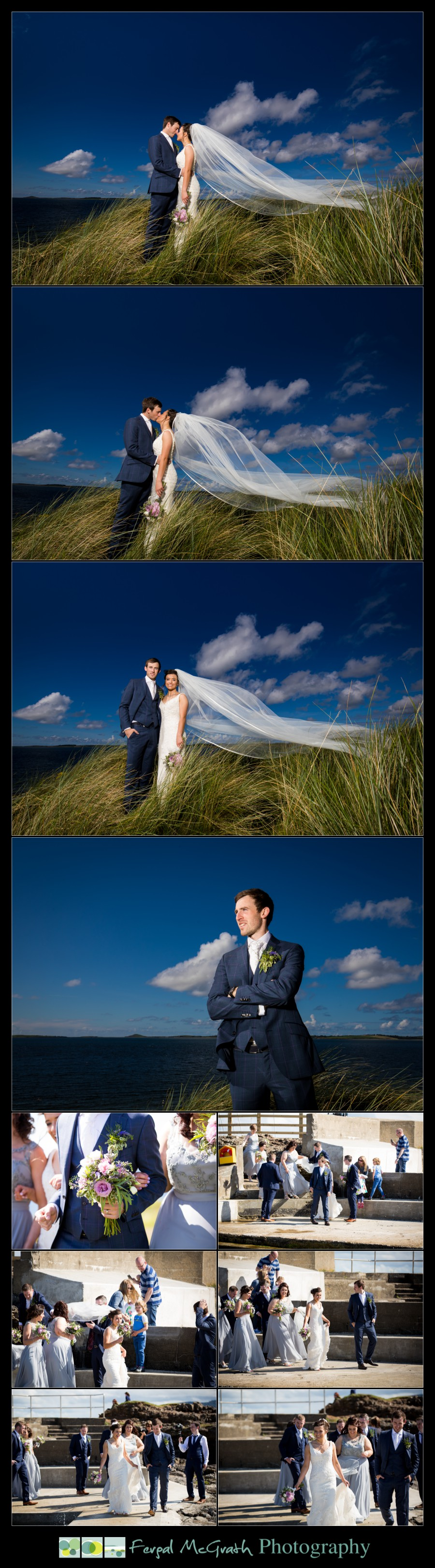Clayton Hotel Sligo Wedding photos at rosses point beach