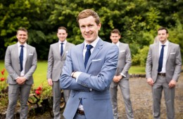 groom at markree castle wedding