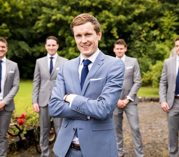 groom at markree castle wedding