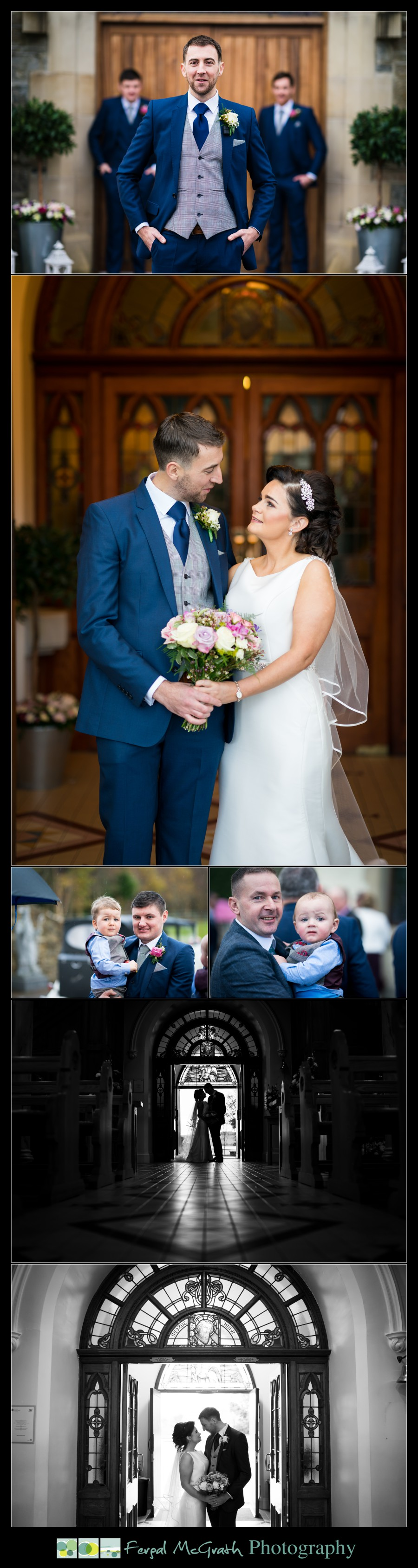 Silver Tassie Hotel Letterkenny Winter Wedding bride and groom at the church