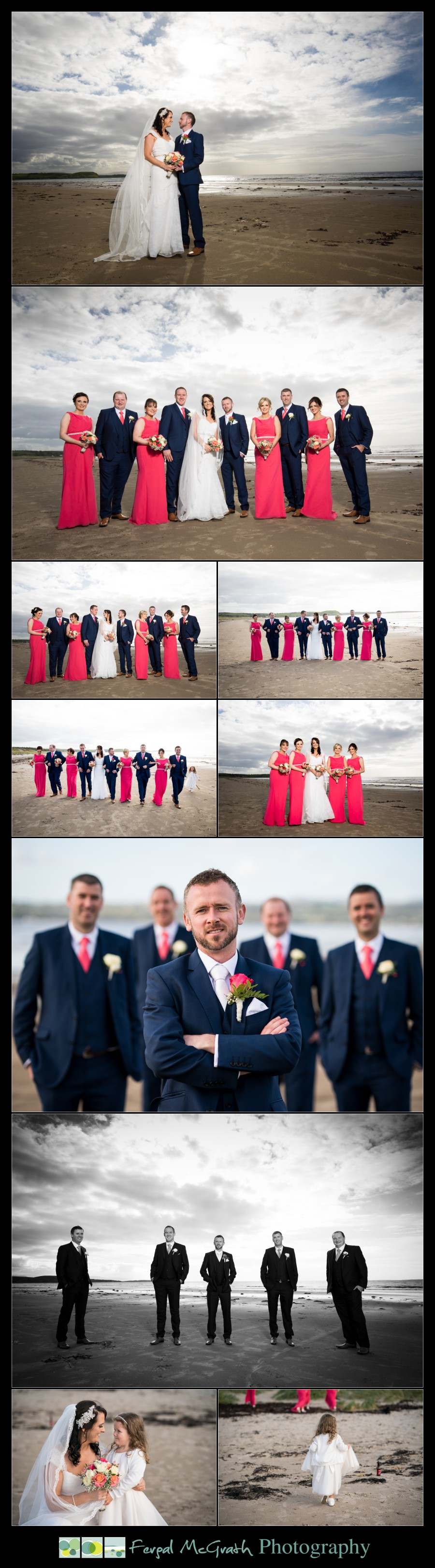 Mill Park Hotel Wedding Laura + John bridal party photos on murvagh beach