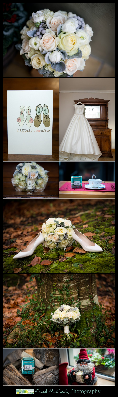 Harveys Point Hotel Winter Weddings brides wedding dress and shoes photos