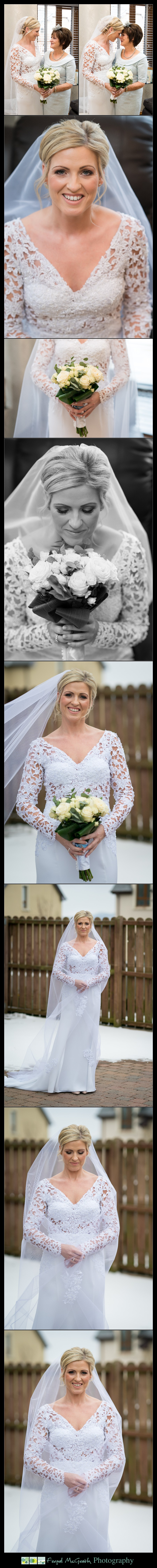 Great Northern Hotel Bundoran Winter Wedding stunning bride portraits