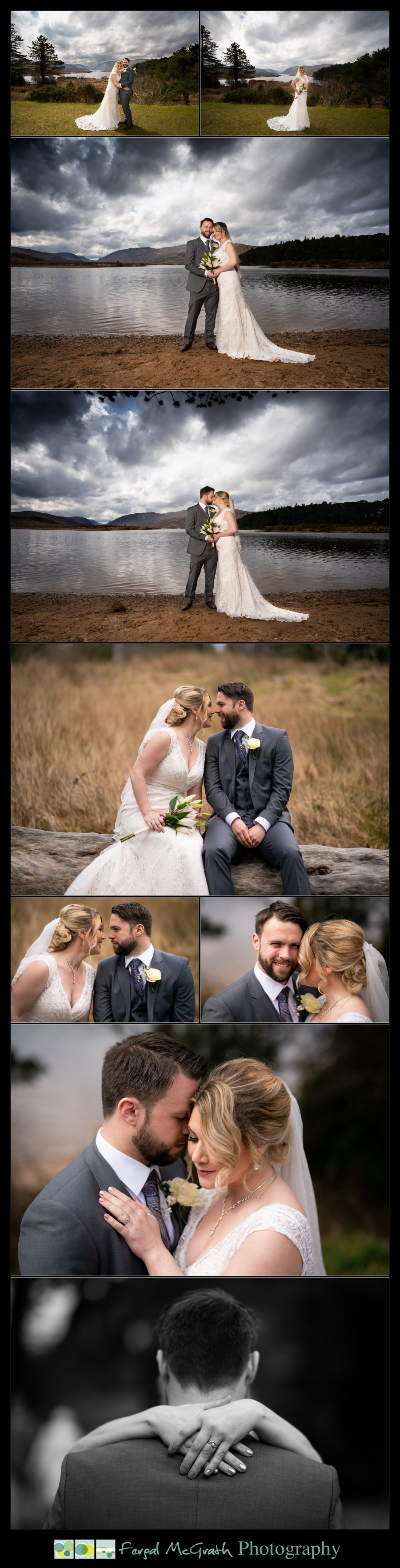Glenveagh National Park Wedding bride and groom portraits