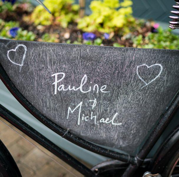 sligo park hotel wedding bicycle photo