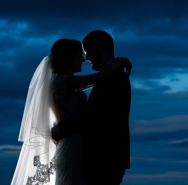 stunning silhouette wedding photo at the ballyliffin lodge hotel