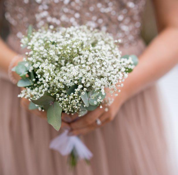 wedding details photo of bridesmaids bouquet