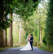 wedding photo on drive of solis lough eske castle