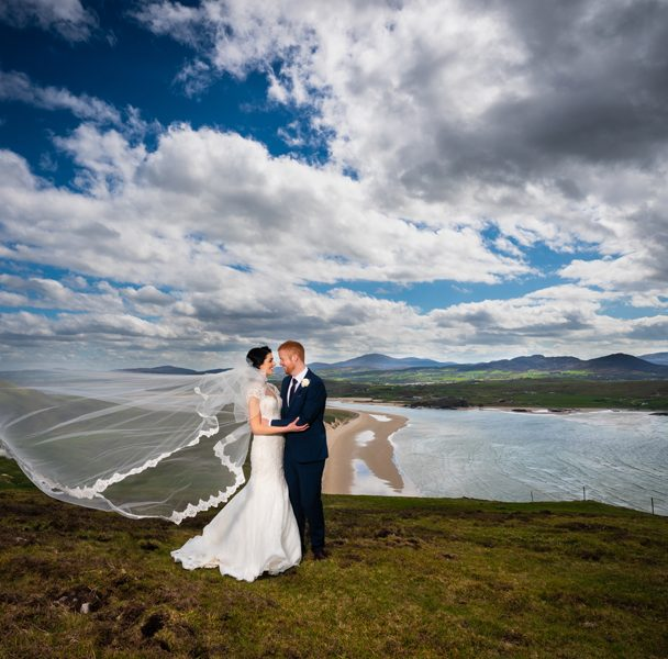 ballyliffin lodge wedding bride and groom photo