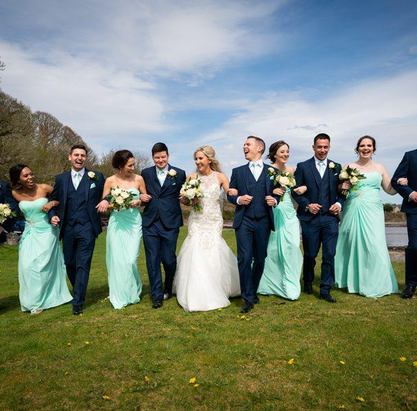 bridal party fun photos donegal wedding photographer