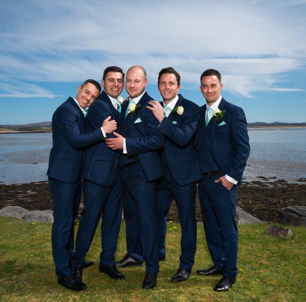 donegal wedding groomsmen having fun at wedding