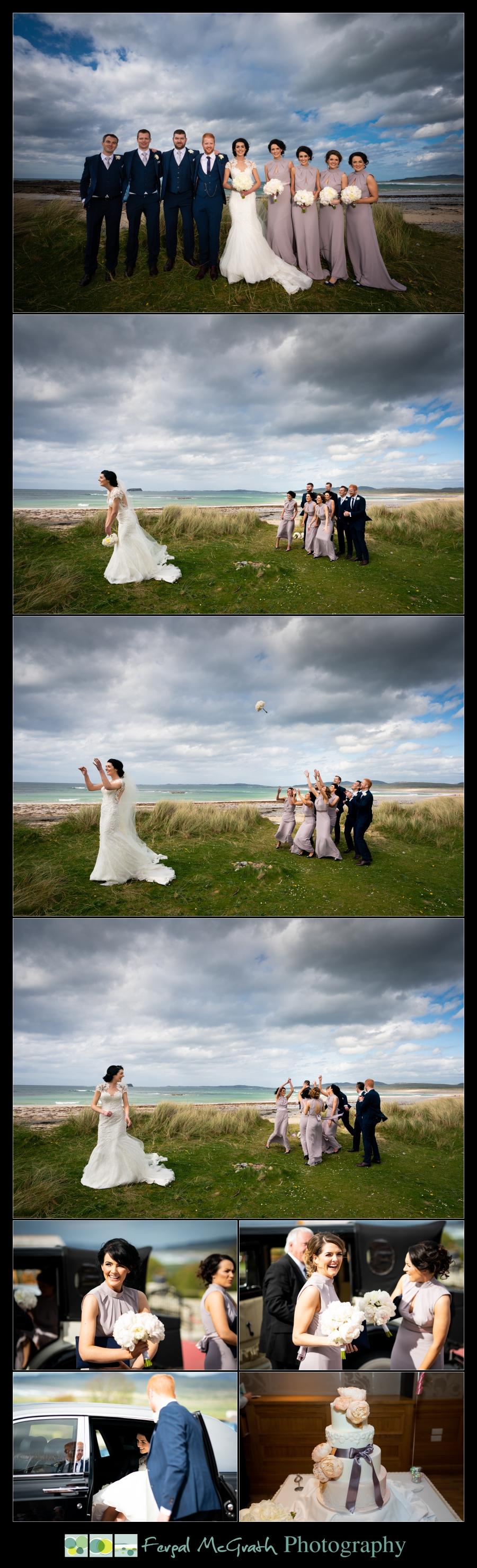 Ballyliffin Lodge Hotel Weddings bride throwing her wedding bouquet
