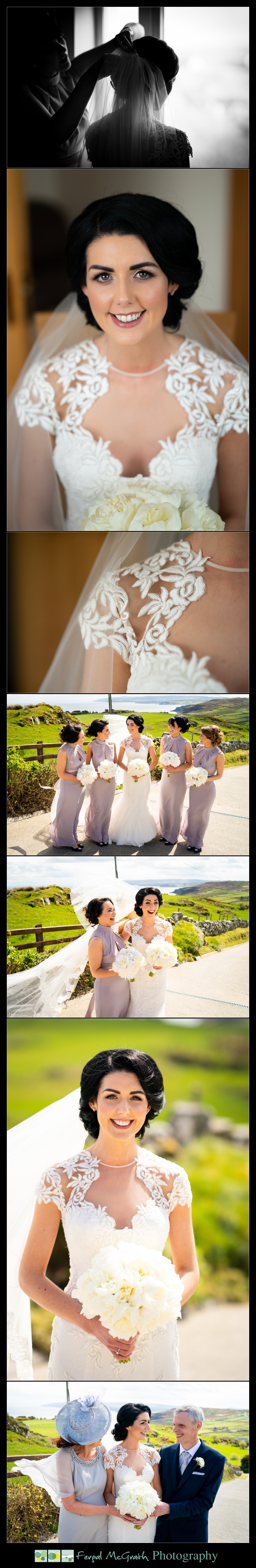 Ballyliffin Lodge Hotel Weddings beautiful bride portraits