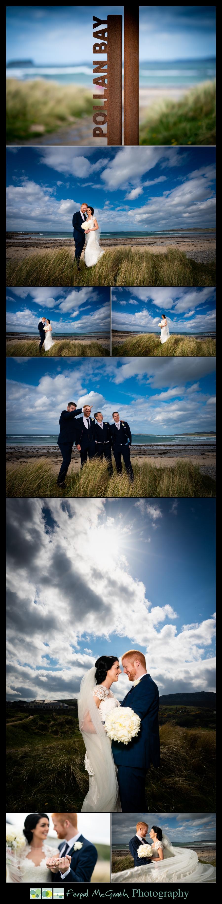 Ballyliffin Lodge Hotel Weddings bride and groom on pollen bay beach