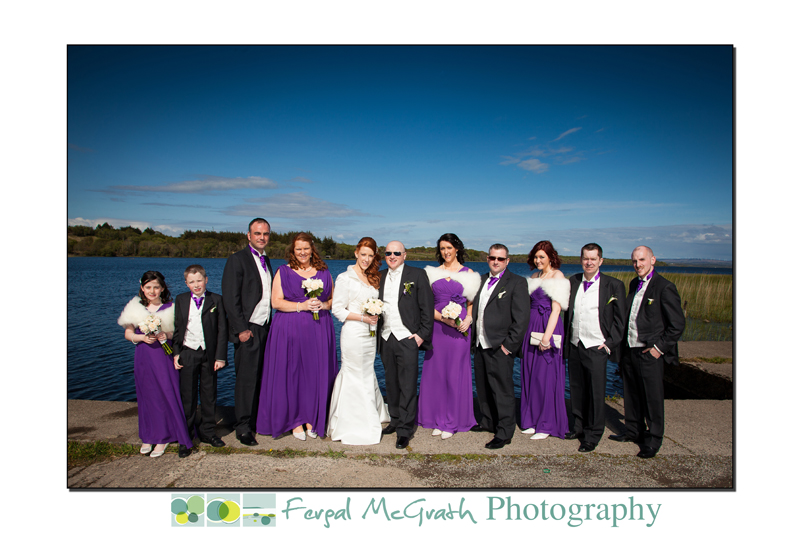 Wedding patry for Hannah and Brian Clancy wedding at Lough Melvin Kinlough Co. Leitrim