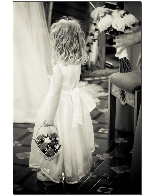 Kinlough wedding photography photo of a Flowergirl