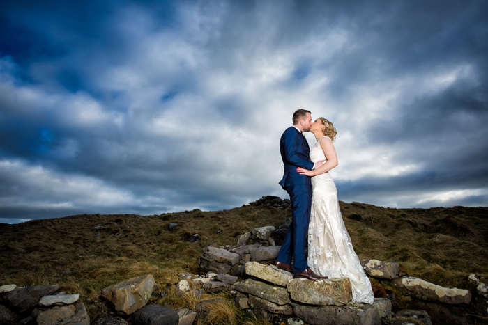 amazing bride and groom photo in donegal