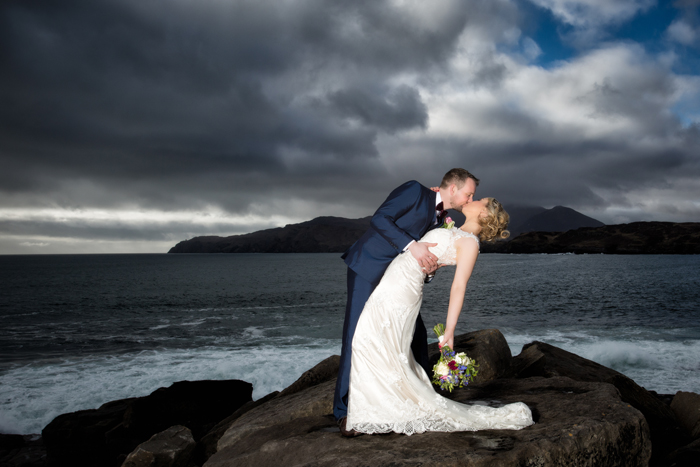 beautiful wedding photo at muckross in donegal
