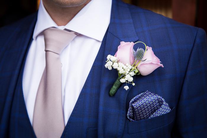 Castlederg Wedding Grooms Suit And On Hole Flower