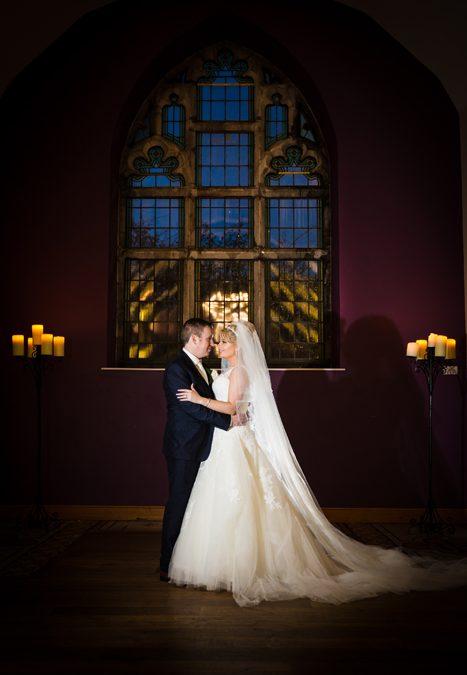clarion hotel wedding bride and groom portrait