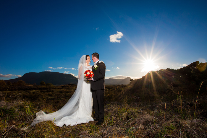mill park hotel wedding bride and groom portrait in the bog