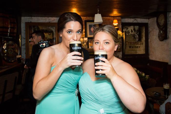 silver tassie hotel wedding bridesmaids with guinness