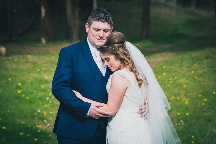 blue haven hotel wedding bride and groom portrait