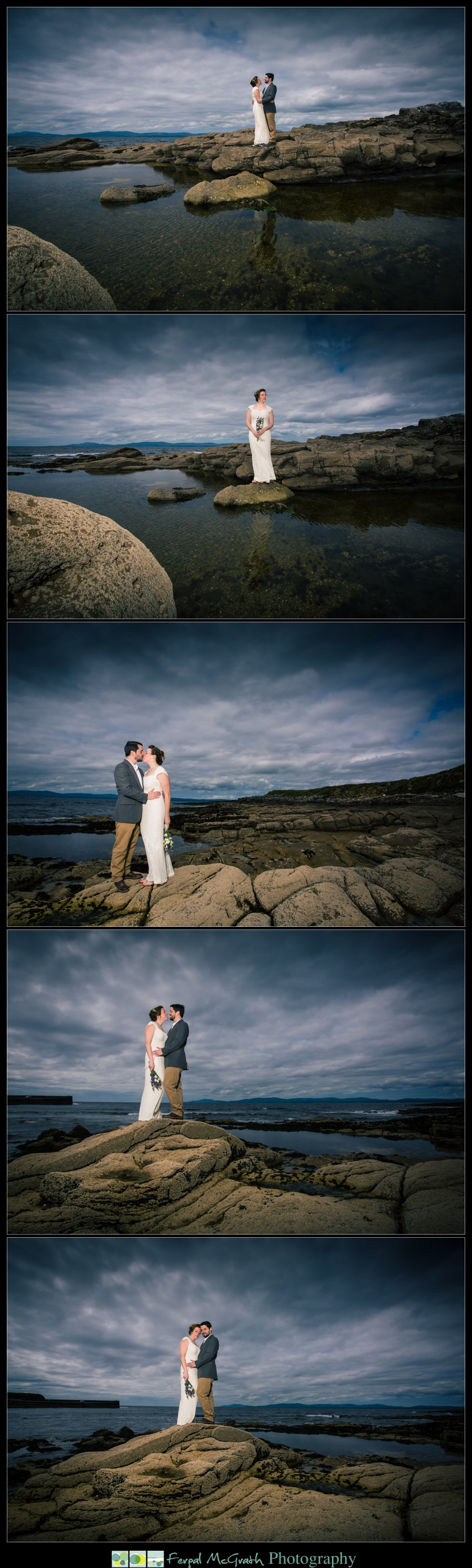 Donegal Wedding Photography wedding photos taken at creevy pier near ballyshannon