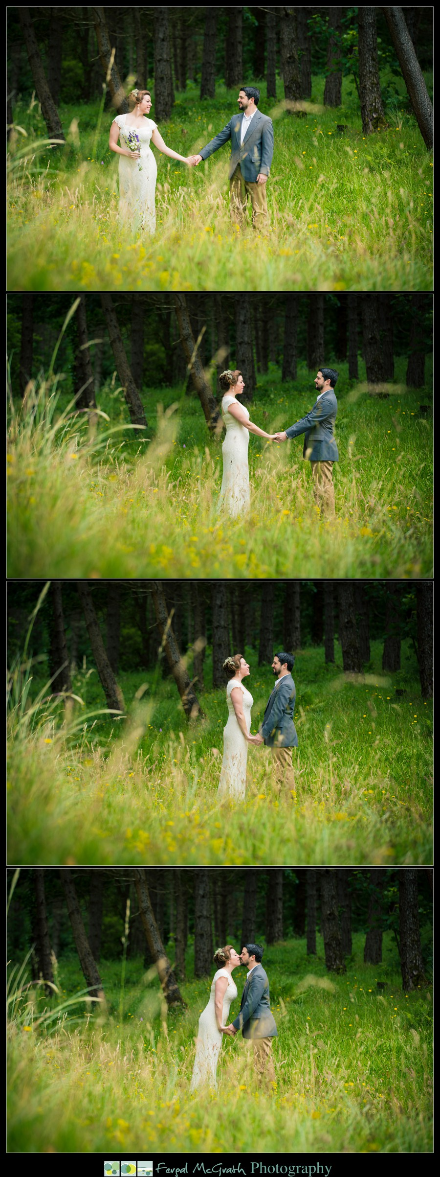 Donegal Wedding Photography bride and groom natural wedding photos in a wild meadow