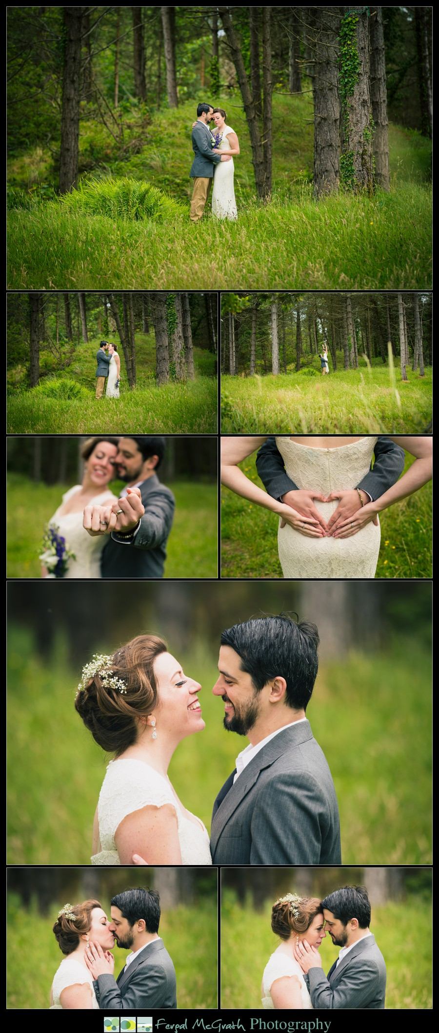 Donegal Wedding Photography bride and groom in a donegal forest