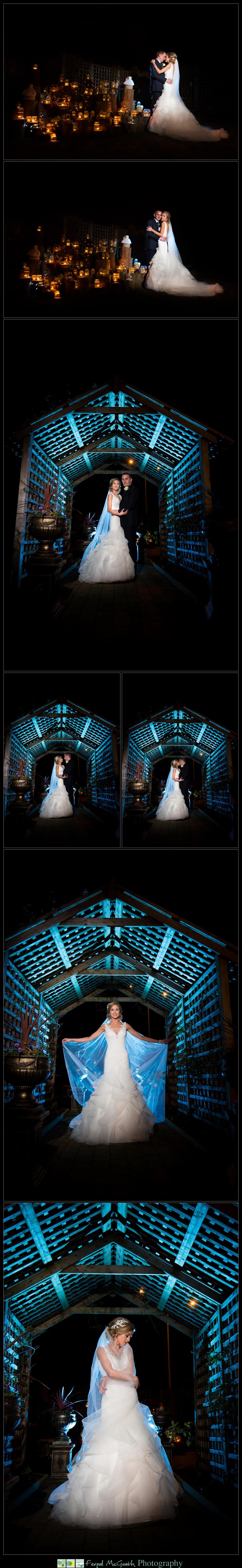 Silver Tassie Hotel Christmas Wedding night time wedding photos