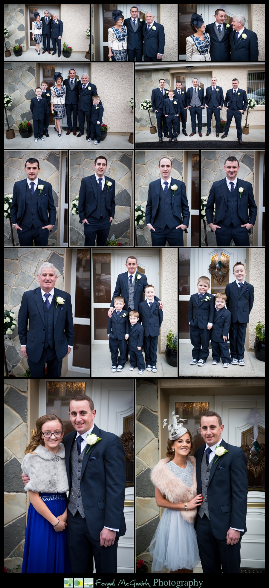 Silver Tassie Hotel Christmas Wedding groom and his family
