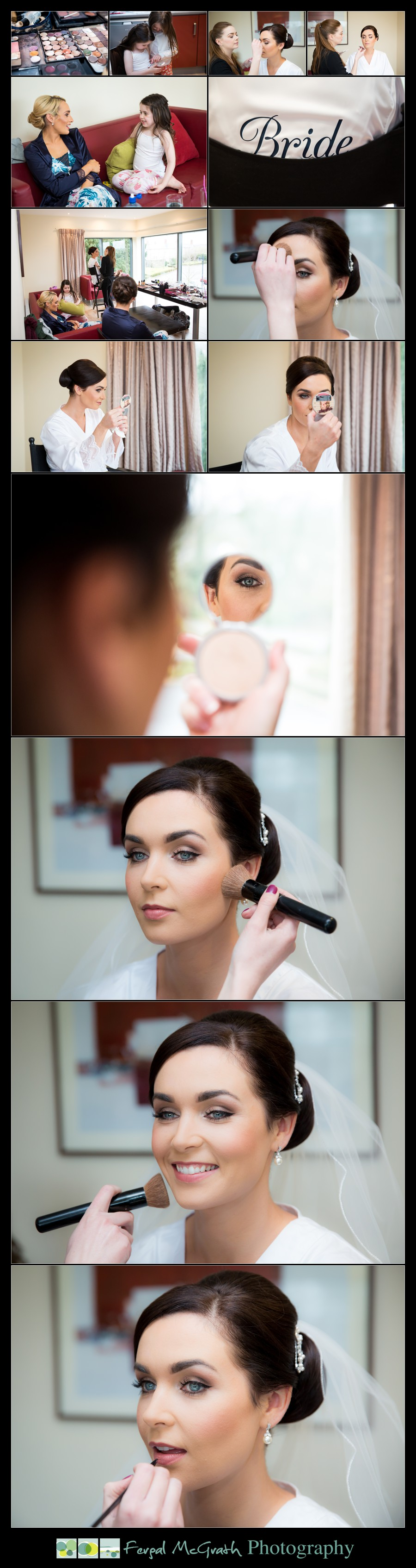 Castle Dargan Hotel Wedding Jamie and Andrew stunning bride getting ready