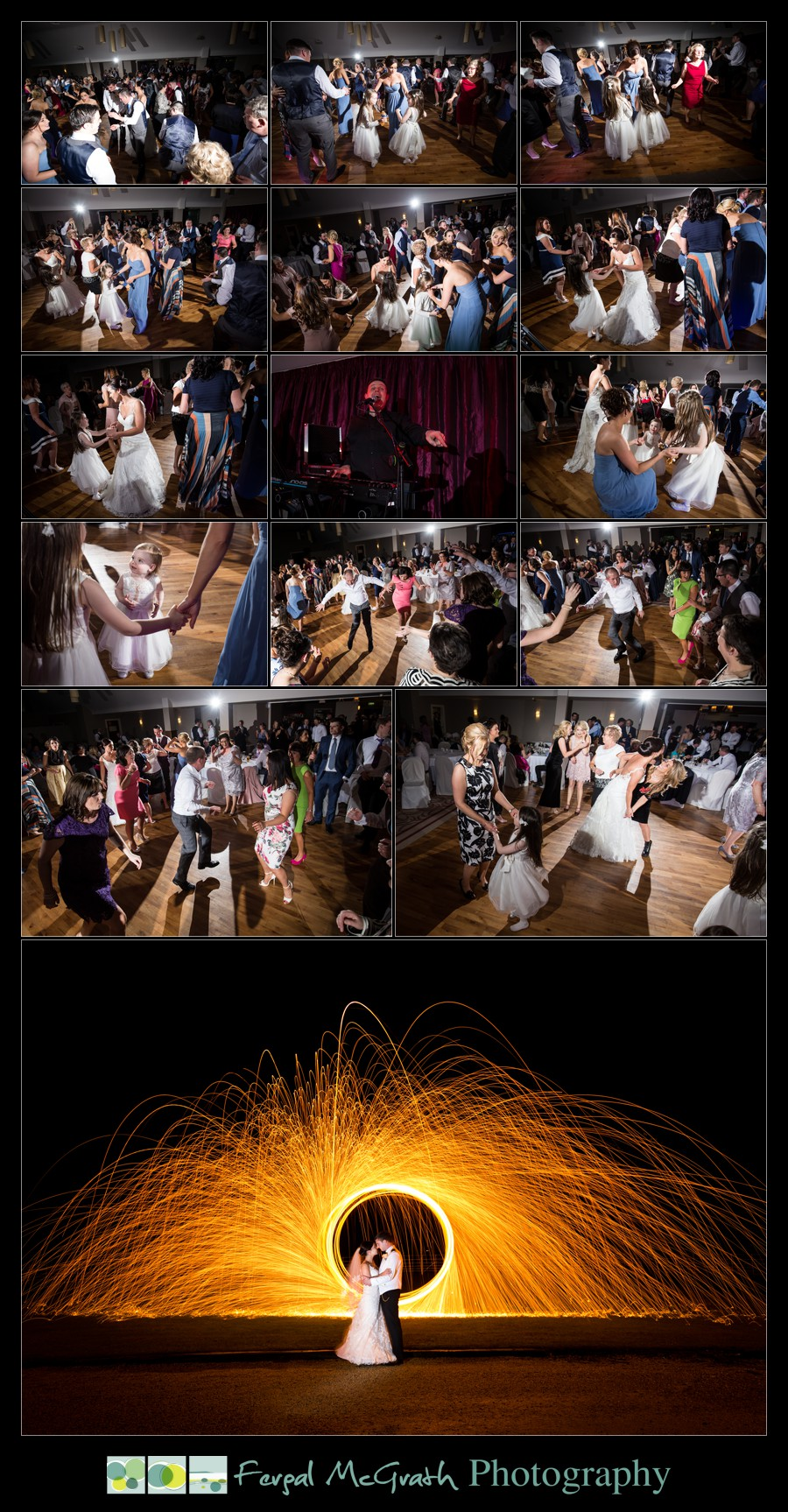 Castle Dargan Hotel Wedding Jamie and Andrew stunning nighttime wedding photos