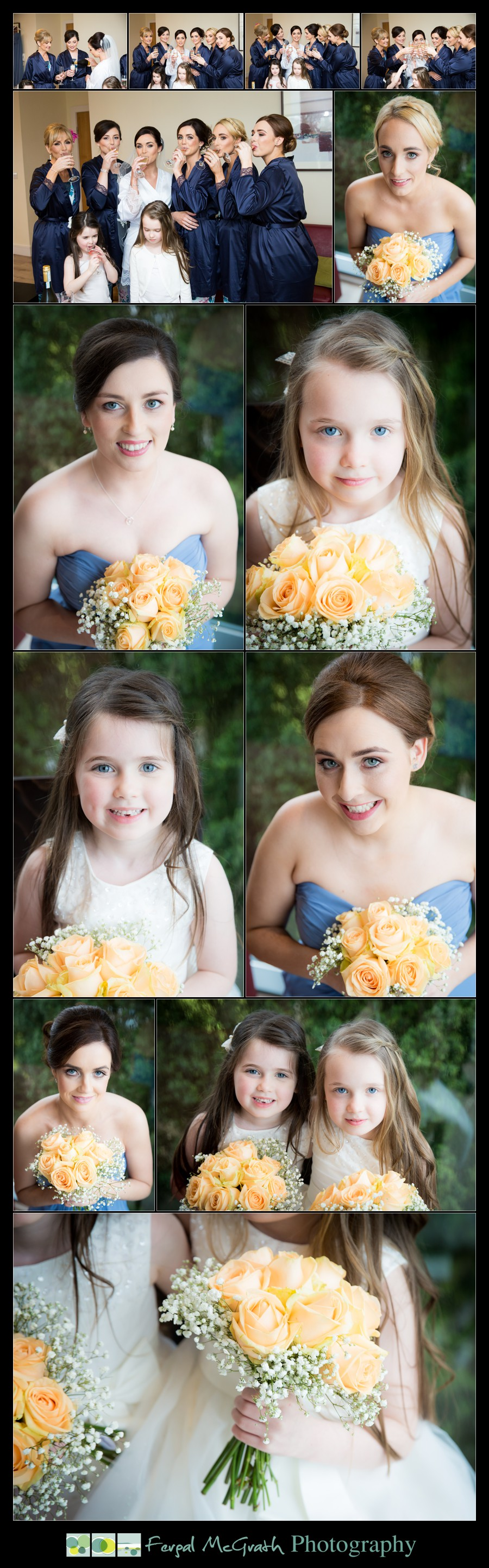 Castle Dargan Hotel Wedding Jamie and Andrew flower girls portraits