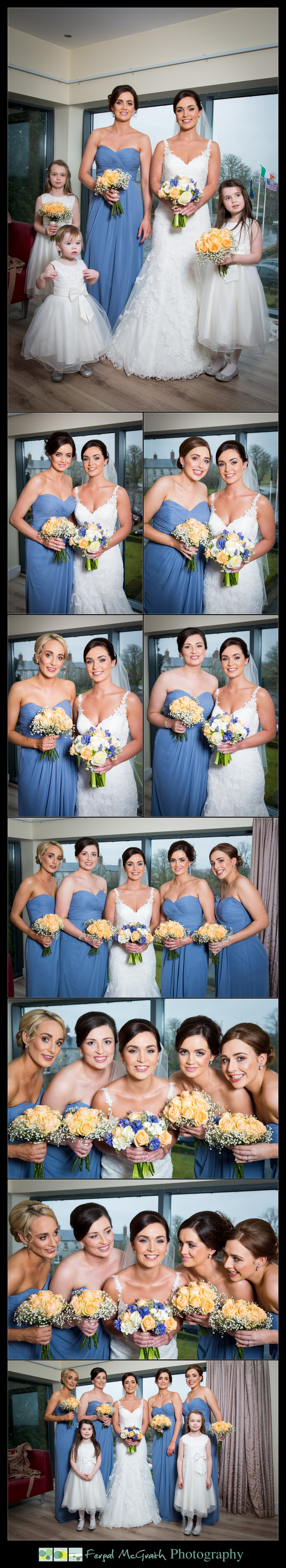 Castle Dargan Hotel Wedding Jamie and Andrew bride and her bridesmaids