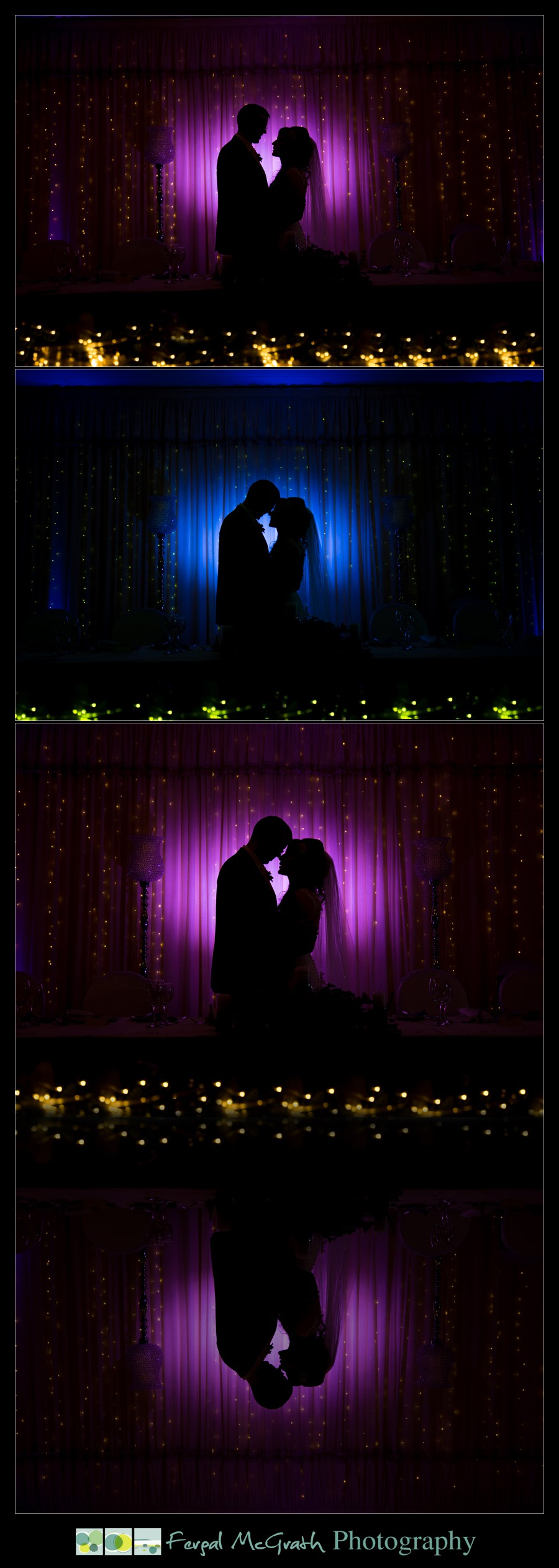Glencolmcille wedding creative wedding photos with off camera flash in the blue haven hotel