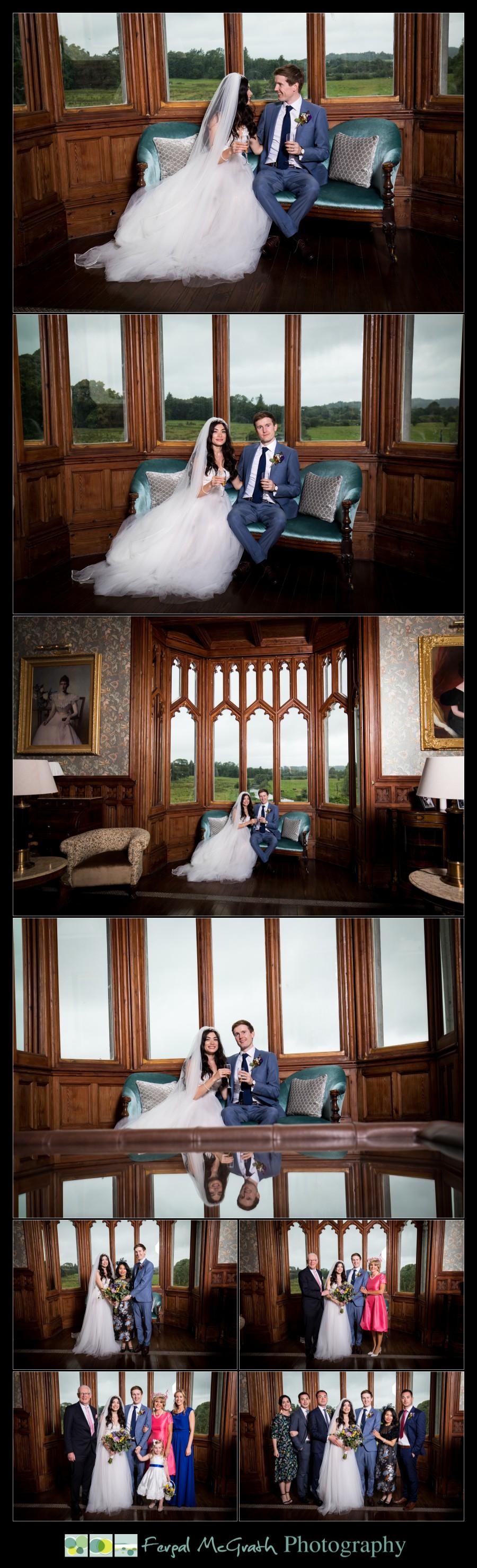 Markree Castle Wedding photos inside the castle