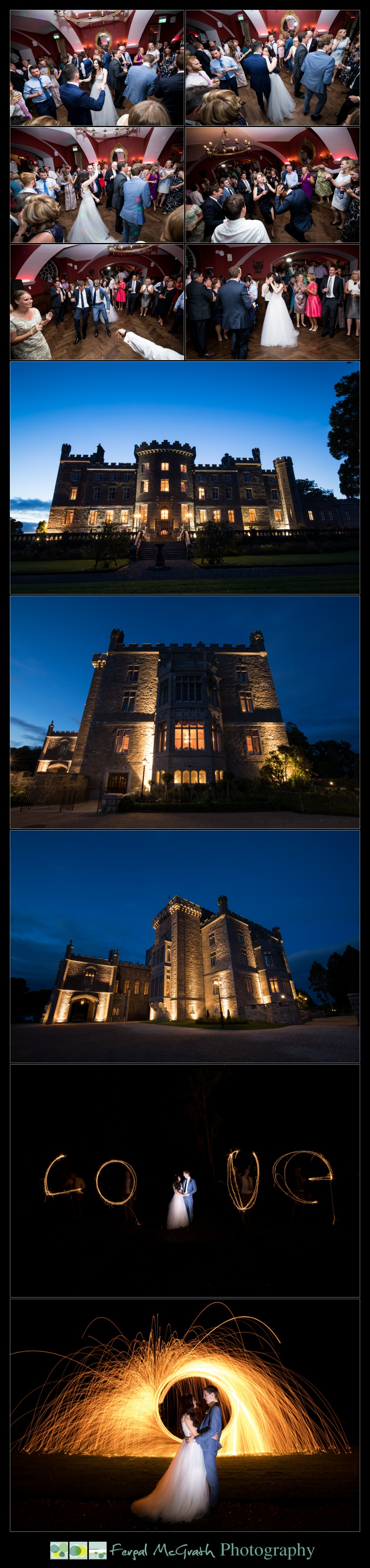Markree Castle Wedding at night