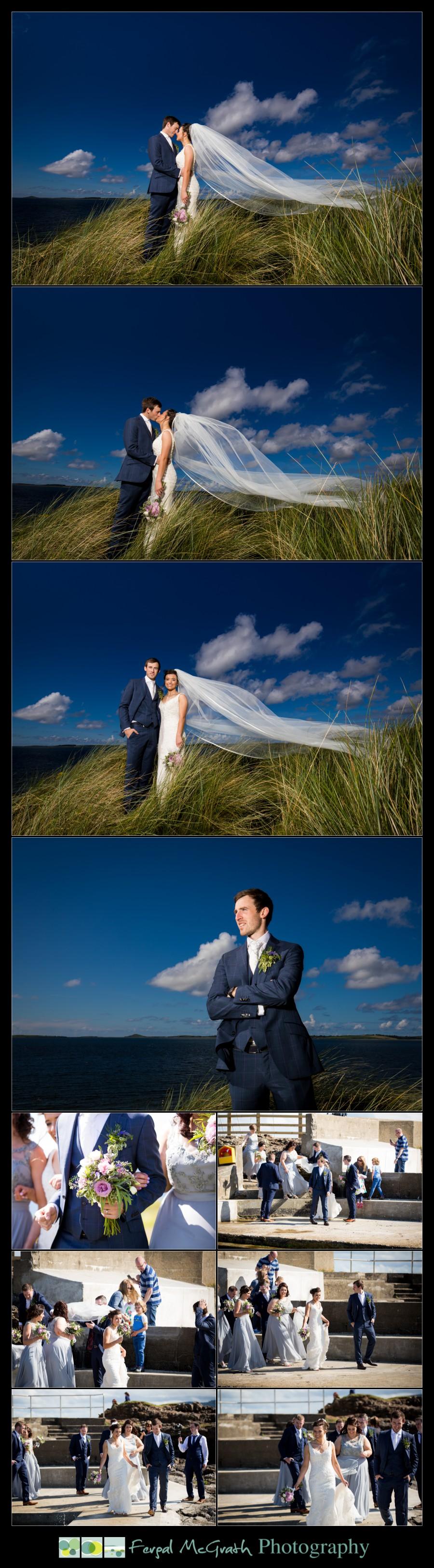 Clayton Hotel Sligo Wedding photos at rosses point beach