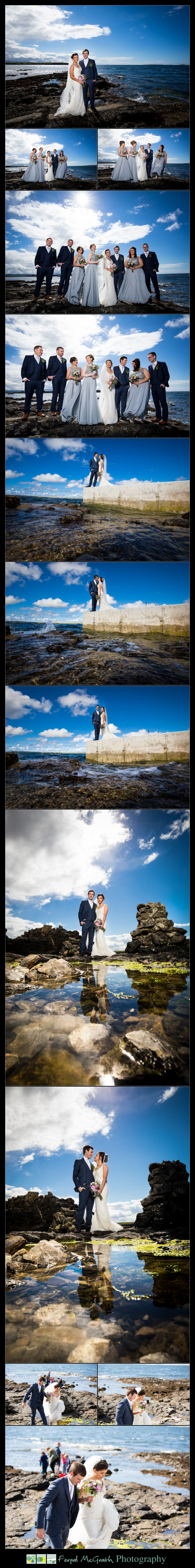 Clayton Hotel Sligo Wedding photos at dead mans point sligo