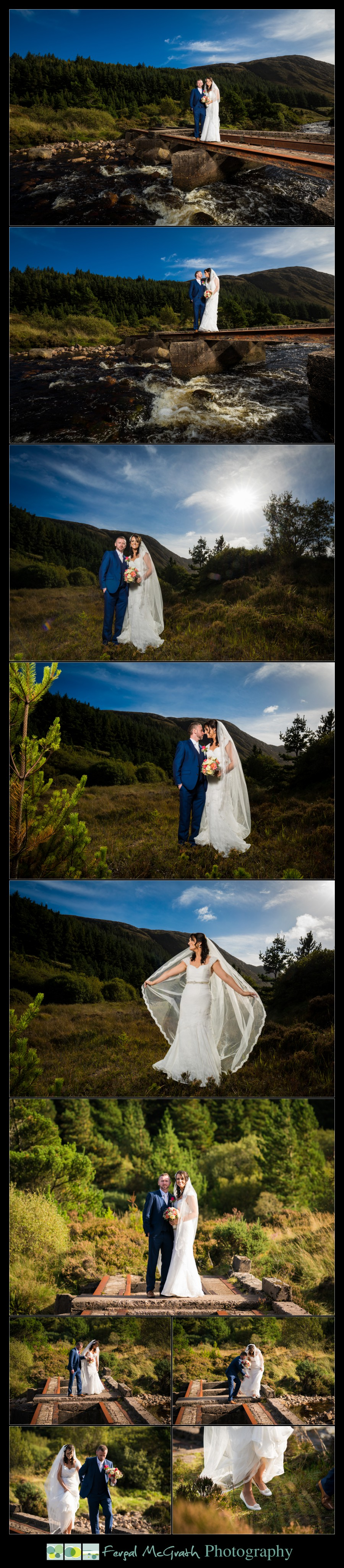 Mill Park Hotel Wedding Laura + John wedding photos on the old railway tracks in barnesmore gap donegal