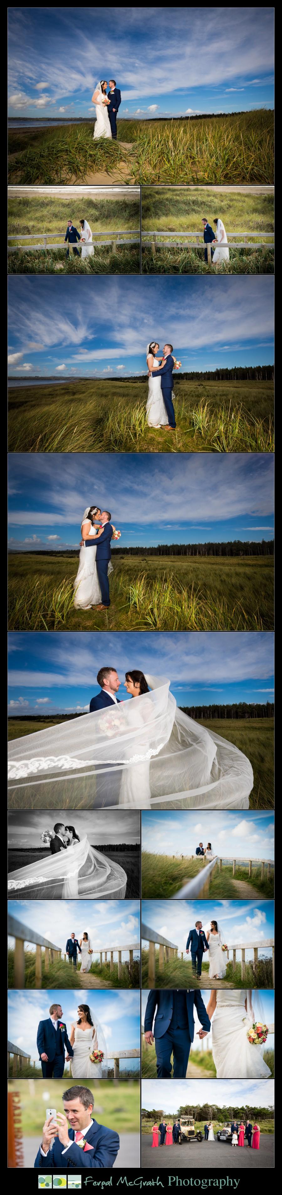 Mill Park Hotel Wedding Laura + John bride and groom photos on murvagh beach