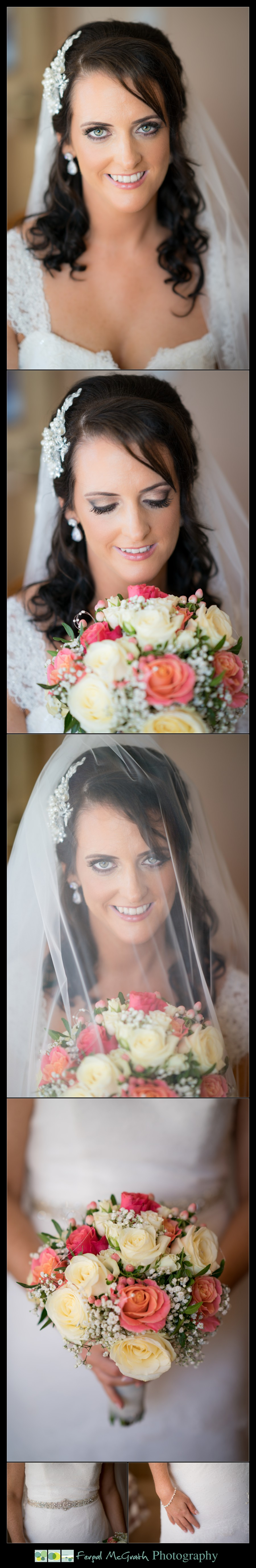 Mill Park Hotel Wedding Laura + John beautiful donegal bride wedding portraits