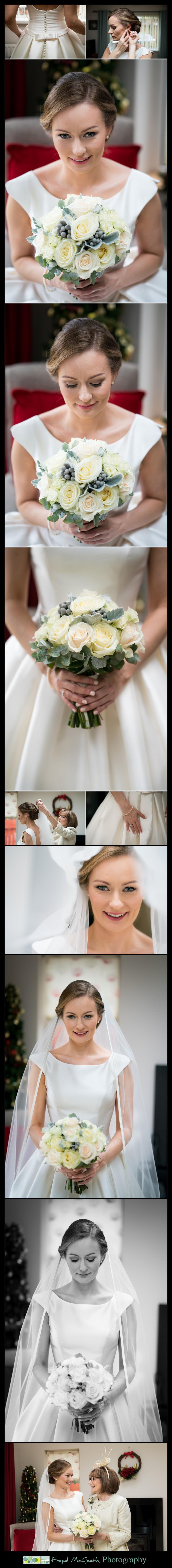 Harveys Point Hotel Winter Weddings stunning bride photos on the morning of her wedding