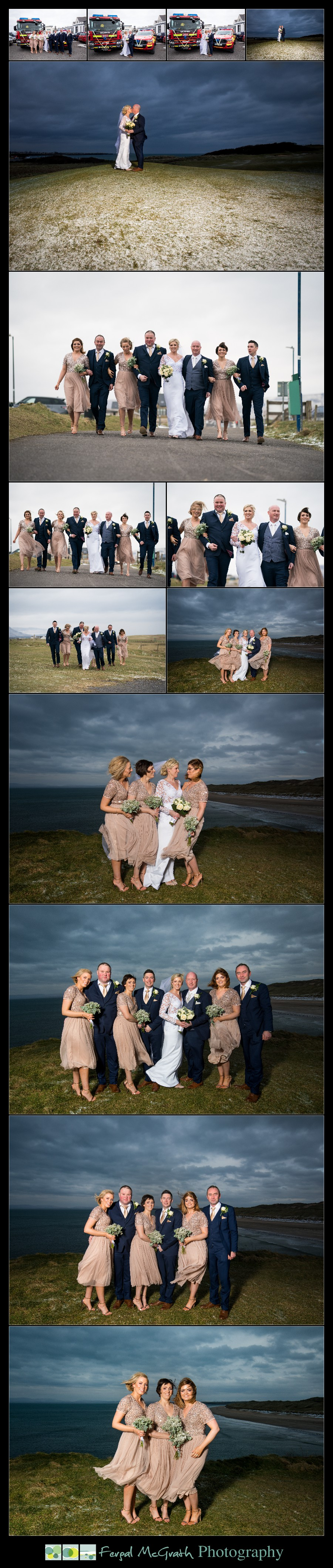 Great Northern Hotel Bundoran Winter Wedding bridal party photos in winter